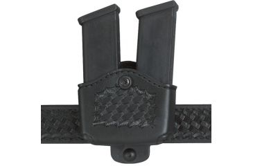Safariland 177 Magazine Holder, Adjustable Belt Loop, Double - Basket Black, Left Hand 177-383-182-150