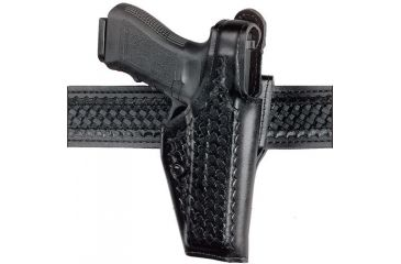 Safariland 200 Top Gun Mid Ride Level I Retention Holster Cordovan Basketweave Right Hand 200 832 071