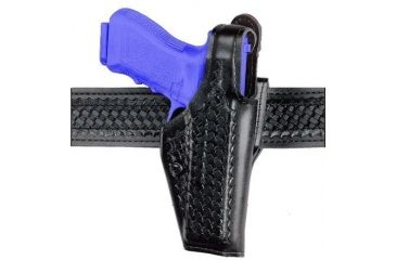 Safariland 200 ''Top Gun'' Mid-Ride, Level I Retention Holster - Hi Gloss Black, Left Hand 200-93-92