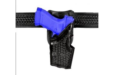 Safariland 2955 Low-Ride, Level II Retention Holster - Hi Gloss Black, Left Hand 2955-383-92