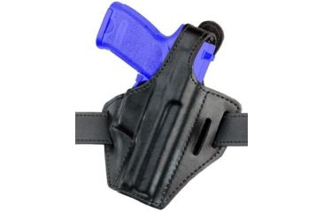 Safariland 328 Belt Holster, Pancake Style - Plain Black, Left Hand 328-473-62