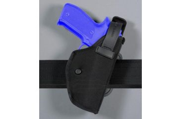 Safariland 4072 Heavy Duty ''Hi-Ride'' Holster - Plain Black, Left Hand 4072-10-42