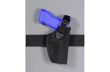 Safariland 4073 Snap Strap Field Holster - Plain Black, Right Hand 4073-72-41