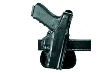 1-Safariland 518 Paddle Holster - Plain Black, Left Hand 518-83-62