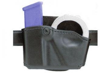 Safariland 573 Concealment Magazine Holder, Paddle, Single w/Cuff Pouch - Plain Black, Right Hand 573-53-21