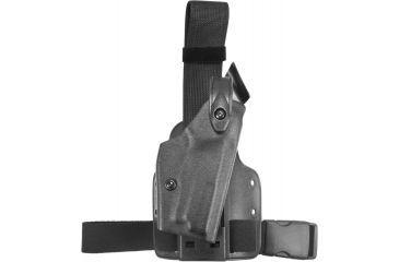Safariland 6004 SLS Tactical Holster, Tactical Black, Right Hand, Leg Shroud Single Strap - Sig P229R DAK DAO