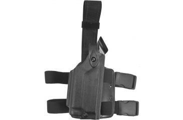 Safariland 6004 SLS Tactical Leg Holster, Black, Right Hand - Sig P220R DAK w/ Hammer & Light - 6004-27721-121