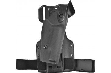 Safariland 6004 SLS Thigh Holster w/DFA on Single Leg Strap, Right Hand, STX Black - Colt 1991A1 & Similar