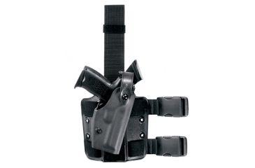 Safariland 6004 SLS Thigh Holster w/Sentry Hood, STX Black, Right Hand - Colt 1991A1 & Similar