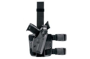 Safariland 6004 SLS Thigh Holster w/Shroud & 1 Strap, Right Hand, STX Black - Colt 1991A1 & Similar
