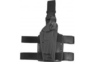 Safariland 6005 SLS QR Thigh Holster, TAC Black, Right Hand - Sentry - Beretta 92 FC