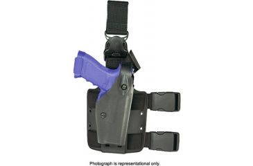 Safariland 6005 SLS Tactical Holster w/ Quick Release Leg Harness - OD Green, Right Hand 6005-83-561
