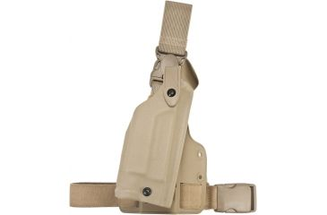 Safariland 6005 SLS Tactical Holster w/Quick Release Leg Harness, Right, STX FDE Brown, Glock 19