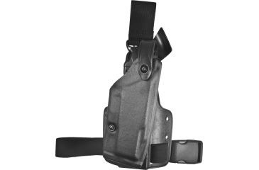 Safariland 6005 SLS Tactical QR Holster, TAC Black, Right Hand, Leg Shroud Single Strap - Taser M26