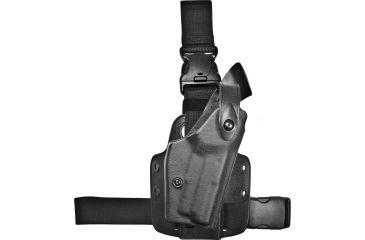 Safariland 6005 SLS Tactical QR Holster, Tactical Black, Right Hand, Leg Shroud Single Strap