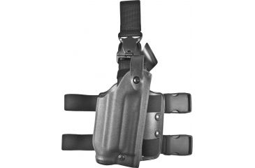 Safariland 6005 SLS Tactical QR Leg Holster, Right Hand, STX TAC Black - Sig P220R w/Light
