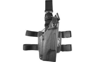 Safariland 6005 SLS Tactical QR Leg Holster, Tactical Black, Right Hand - H&K 10 w/Light