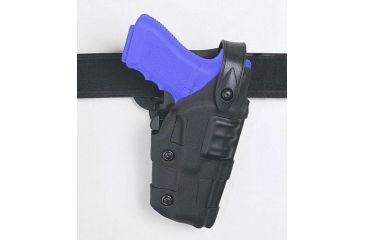 Safariland 6070 Raptor Level III, Mid-Ride UBL Holster - Plain Black, Left Hand 6070-383-62