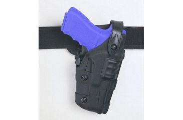 Safariland 6070 Raptor Level III, Mid-Ride UBL Holster - Plain Black, Right Hand 6070-73-61