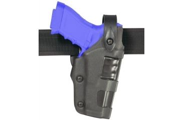 Safariland 6270 Raptor Level II Plus, Mid-Ride UBL Holster - Plain Black, Right Hand 6270-78-61