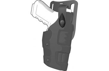 Safariland 6275 Raptor Level II Plus, Low-Ride UBL Holster - Plain Black, Right Hand 6275-97-61
