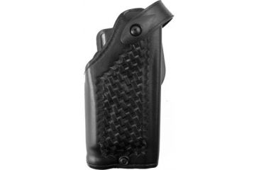 Safariland 6280 Level II Retention, Mid-Ride Holster - Basket Black, Right Hand, Old BL Style, Hood Guard Protection 6280-2832-81OBL-H