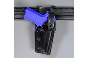 Safariland 6285 1.50'' Belt Drop, Level II Retention Holster - Hi Gloss Black, Left Hand 6285-842-92