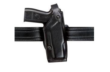 Safariland 6287 Concealment SLS Belt Holster - Plain Black, Right Hand, 1.5in.Belt Loop Slot w/ Cut Outs for 1.75in., 2in. and  2.25in. Belt Loop Slot w/ 1in. Drop 6287-74-61-DM