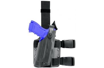 Safariland 6304 ALS Thigh Holster, Right Hand, STX TAC Black - MOLLE Plate - Glock 20/21 w/Light