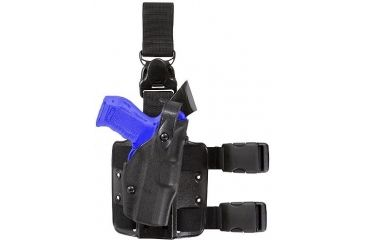 Safariland 6305 ALS Tactical Holster w/ Quick Release Leg Harness - STX TAC Black, Left Hand 6305-832-132