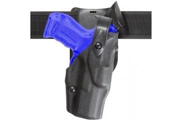 Safariland 6365 ALS Level II Plus w/ Drop UBL Holster - Basket Black, Left Hand 6365-74-82
