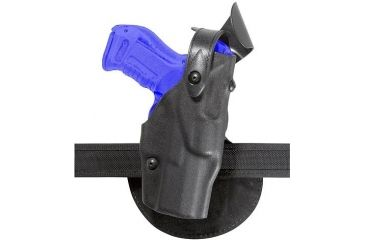 Safariland 6368 ALS Paddle Holster w/ SLS - Plain Black, Right Hand 6368-219-61