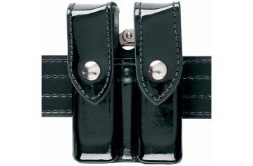 Safariland 72 Mag/Cuff Pouch, Top Flap - Plain Black, Ambidextrous 72-76-2