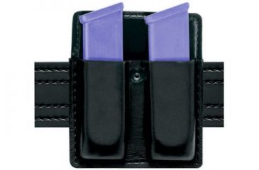 Safariland 75 Double Mag Pouch Without Flaps - STX Plain Black, Ambidextrous