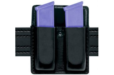 Safariland 75 Double Mag Pouch Without Flaps - Plain Black, Ambidextrous 75-118-2
