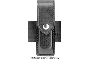 Safariland 76 Single Handgun Magazine Pouch - Plain Cordovan, Ambidextrous 76-76-01B