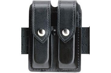 Safariland 77 Double Handgun Magazine Pouch - Gloss Black, Ambidextrous 77-53-9HS