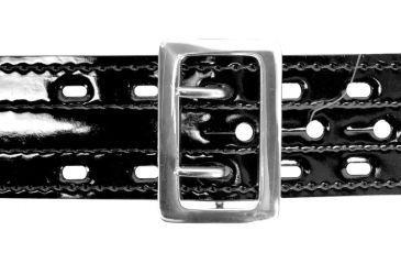 Safariland 87V Suede Lined hook and Loop Chrome Buckle Hi Gloss Safarilaminate Belt, 40 in