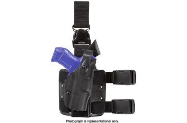 Safariland ALS Paddle Holster, Right Hand, STX Plain Black 1.5in. Belt Slots w/Cut Outs for 1.75in., 2in. and 2.25in. Belt Slops with 1in. Drop 6378-319-411-DM