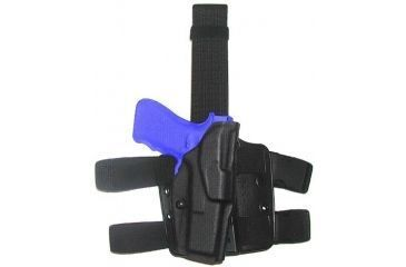 Safariland ALS Tactical Thigh Holster, Right Hand, STX Tactical Black Leg Shroud Single Strap 6354-77-131-SP10