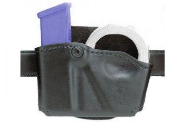 Safariland 573 Concealment Magazine Holder, Paddle, Single w/Cuff Pouch - STX Plain Black, Ambidextrous 573-76-411