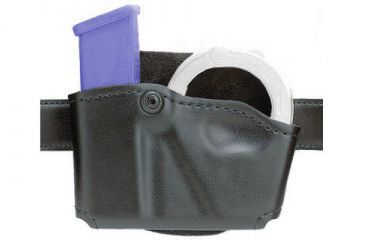Safariland 573 Concealment Magazine Holder, Paddle, Single w/Cuff Pouch - STX Plain Black, Ambidextrous 573-83-411