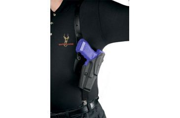 Safariland 1051 ALS Shoulder Holster System - Plain Black, Left Hand 1051-74-62