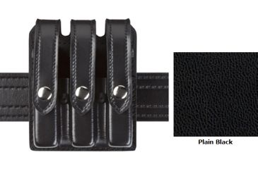 Safariland Model 777 Slim Triple Mag Pouch w/Flap B/W Black Glock 17 777-83-4PBL