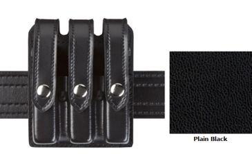 Safariland Model 777 Slim Triple Mag Pouch w/Flap Plain Black Glock 17 777-83-2