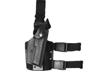 Safariland 6005 SLS Quick Release Thigh Holster, STX TAC Black, Right Hand - H&K HK 45 - 393-121