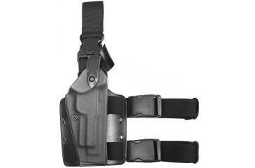 Safariland 6005 SLS Tactical Holster w/ Quick Release Leg Harness - Tactical Black, Right Hand 6005-73-121