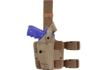 Safariland SLS Tactical Holster, Right Hand, STX FDE Brown MOLLE Locking Fork 6004-836-551-MS15