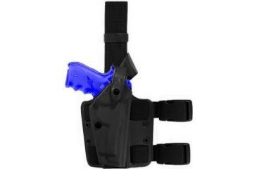 Safariland SLS Tactical Holster, Right Hand, STX Tactical Black Leg Shroud Single 6004-5340-121-SP10