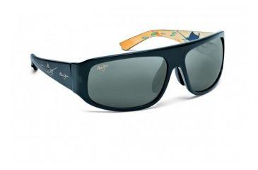 Maui Jim Sailfish Sunglasses w/ Blue Frame and Neutral Grey Lenses - 233-03, Quarter View